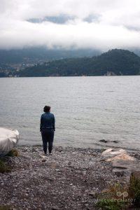 dimineata pe malul lacului como