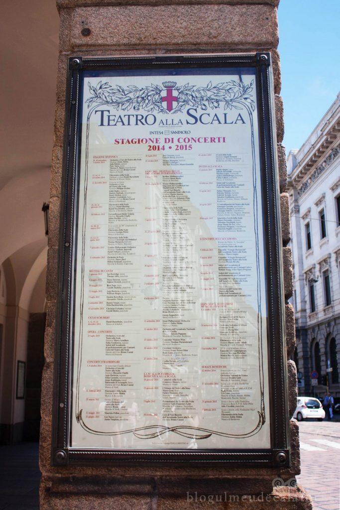 O zi in Milano- scala din Milano