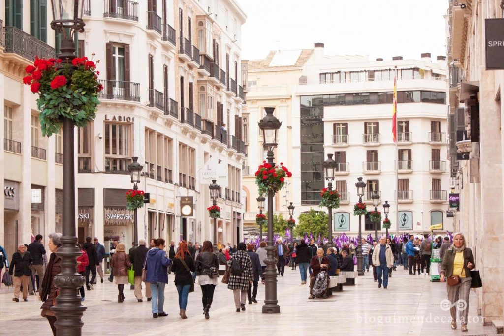 shopping pe Cale Larios Malaga