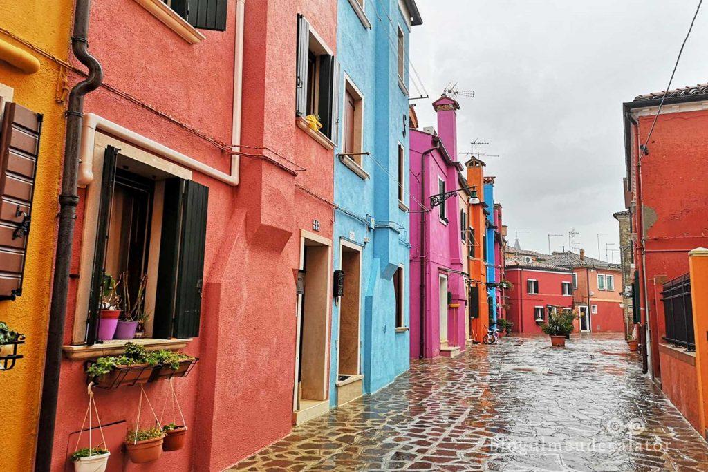 Case colorate in Burano, Venetia