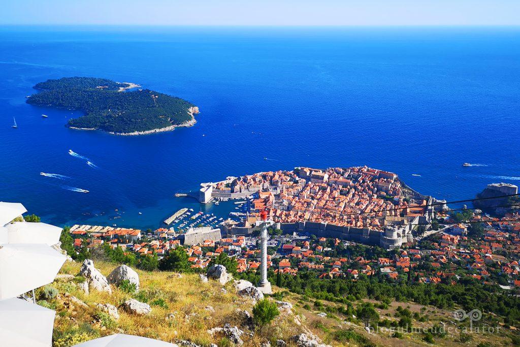 Dubrovnik vazut de pe muntele Srd