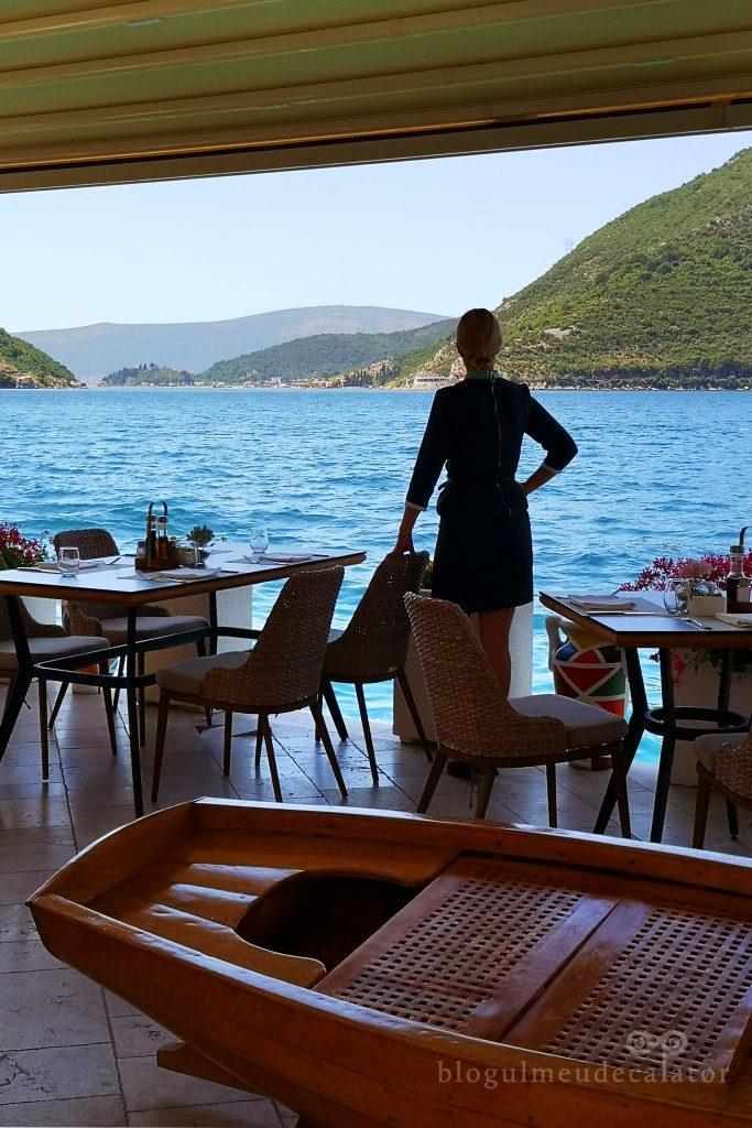 restaurante pe malul marii in Perast, Muntenegru