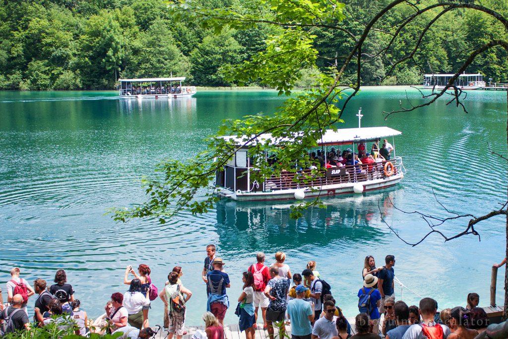 barci pe lacul Kozcak, Plitvice