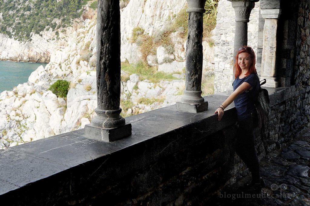pe balconul bisericii San Pietro din Portovenere
