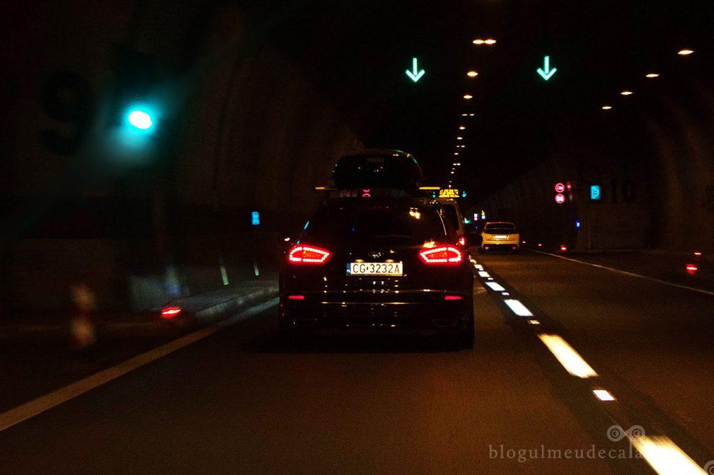 cu masina prin tunele in drum spre Croatia