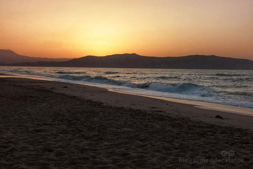 apus pe o plaja din creta