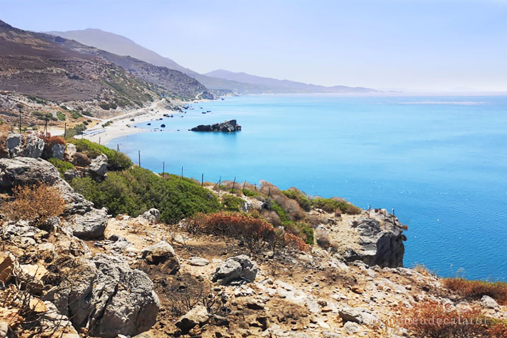 plaje din Creta-drumul spre plaja Preveli