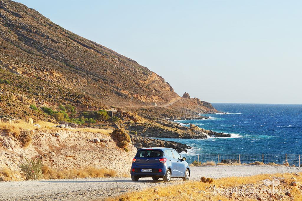 plaje creta-drumul neasfaltat spre plaja Balos