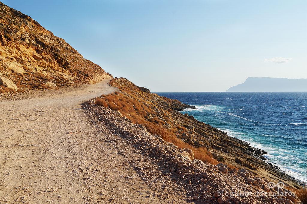 drumull spre plaja Balos Creta